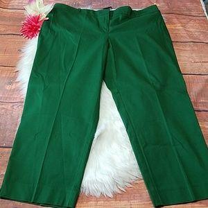 Talbots signature green pants sz 18